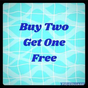 Buy 2 earrings and get 1 Free